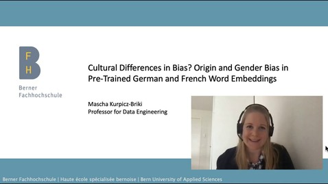 Vorschaubild für Eintrag SwissText/KONVENS 2020: Cultural Differences in Bias? Origin and Gender Bias in Pretrained German and French Word Embeddings